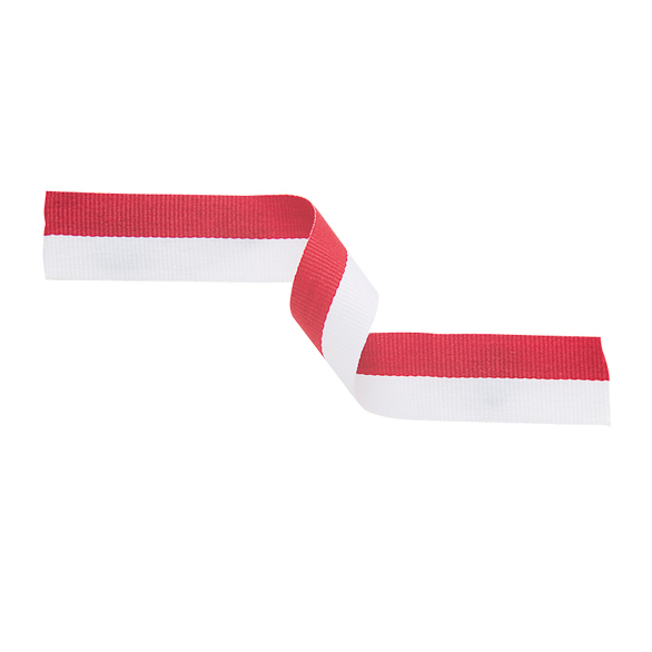 Medal Ribbon Red & White