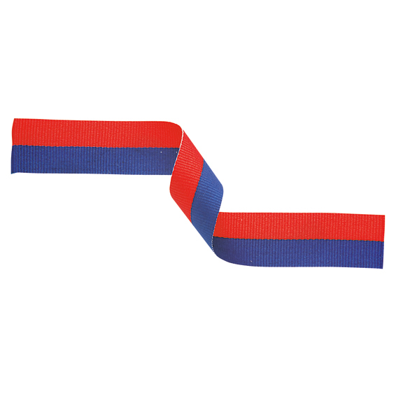 Medal Ribbon Blue & Red