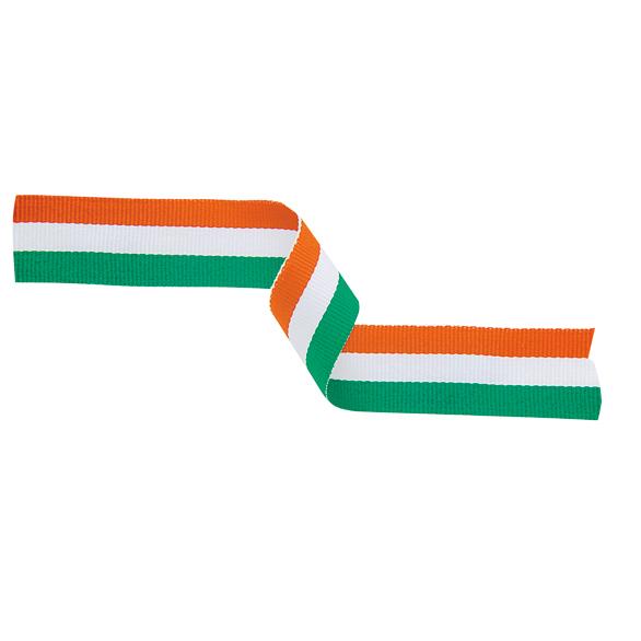 Medal Ribbon Green White & Orange