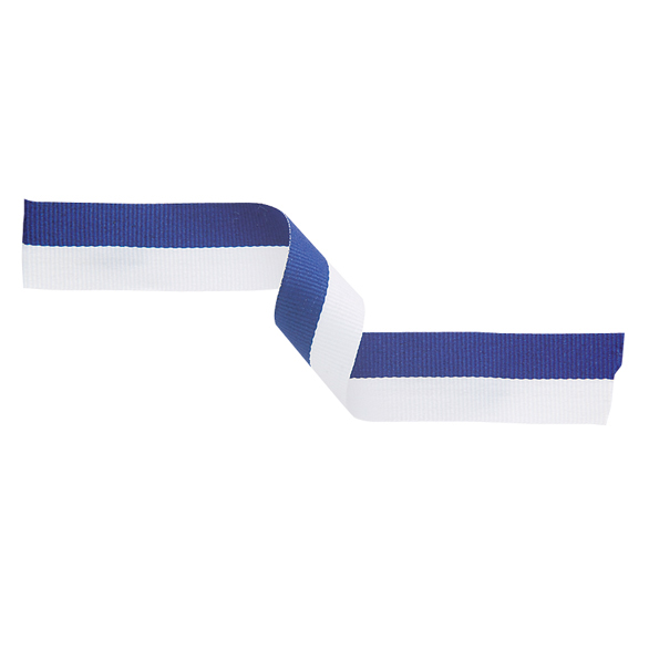 Medal Ribbon Blue & White