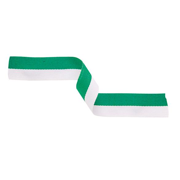 Medal Ribbon Green & White