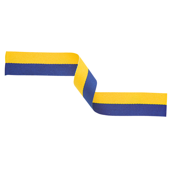 Medal Ribbon Yellow & Blue