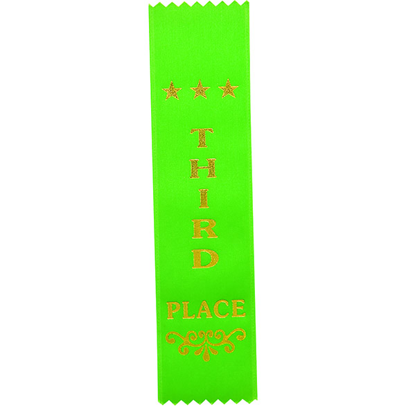 Recognition 3rd Place Ribbon Green 200 x