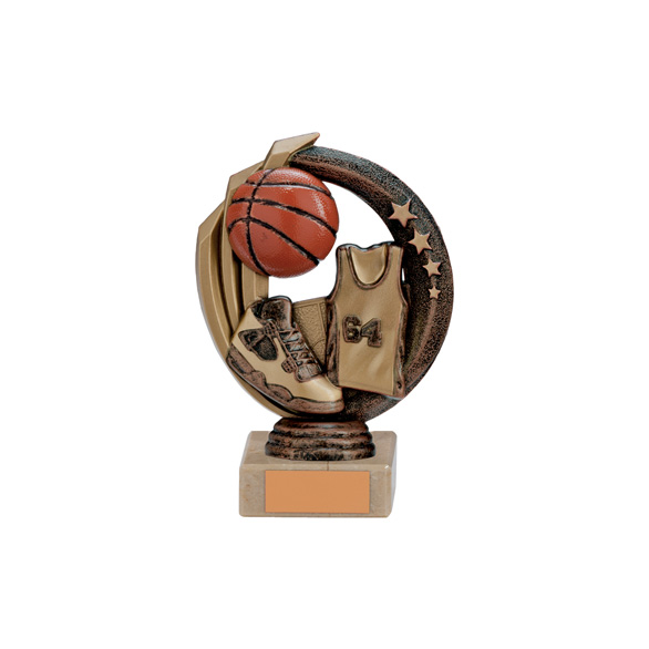 Renegade Basketball Legend Award Antique Bronze & Gold