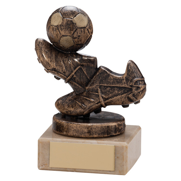 Agility Boot & Ball Football Trophy Bronze & Gold