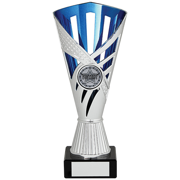 Dragon Trophy Silver & Blue